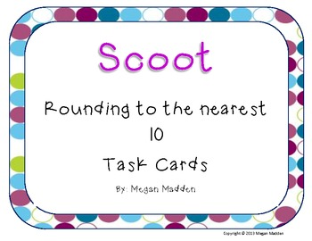 Scoot! Rounding to the Nearest 10 for Beginners