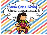 Summer Snow Cone Scoot Math Game