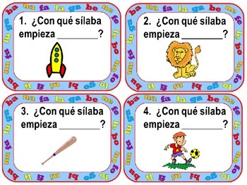 Scoot: Spanish syllables B, N, F, L y G