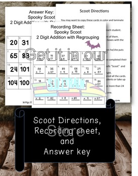 Halloween Math for Regrouping with Addition