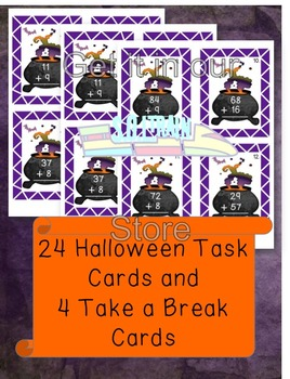 Halloween Math Game for Regrouping with Addition