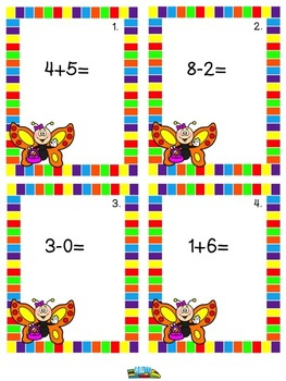 Butterfly Scoot  Math Game for Summer School