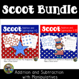 4th of July Activities Math Scoot Game Bundle