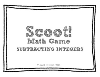 Scoot! [Subtracting Integers]