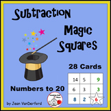 SUBTRACT to 20 |  Self-Checking  MAGIC SQUARES TASK CARDS ... MATH Gr 2