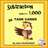 Subtraction to 1000  TASK CARDS   with/without Regrouping   Gr. 3-5 MATH