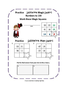 Subtraction to 100 | Magic Squares | Self-Checking Subtraction | Gr. 2 MATH