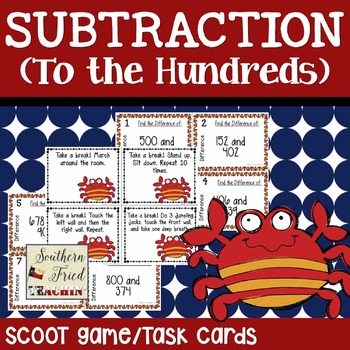 Subtraction Scoot Game/Task Cards (To the Hundreds)