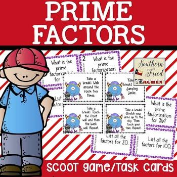 Prime Factors Scoot Game/Task Cards