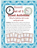 Scoot! Telling Time by the hour, 5 min, and 1 min - 3 SETS!