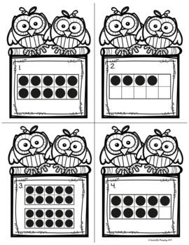 Task Cards--Ten Frames Scoot! Game