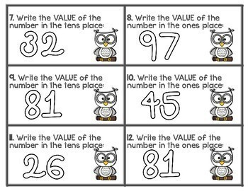 Tens and Ones Place Value Scoot Game