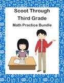 Scoot Through Third Grade Math Practice Bundle