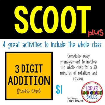 Scoot - Tie Scoot & more... 3 Digit Front End Addition