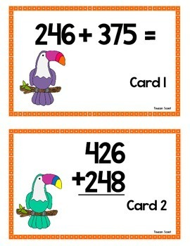 Scoot - Toucan Scoot & more... Triple & Double Digit Addition w/regrouping