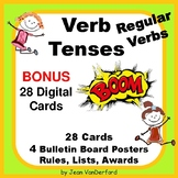 REGULAR VERB TENSES Task Cards ... BONUS DIGITAL CARDS  NO PREP  Gr 3-4