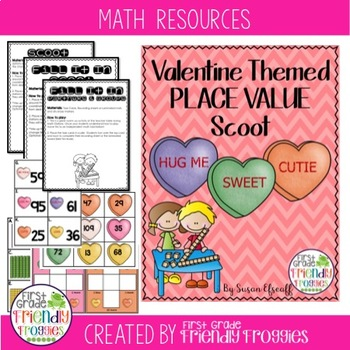 Scoot - Valentine Themed - Place Value!