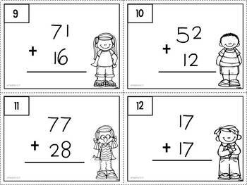 Scoot addition with and without regrouping