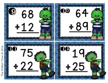 Scoot away from Zombies:  Addition and Subtraction with and without Regrouping