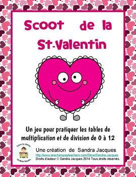 Scoot de la St-Valentin (Multiplication/Division)