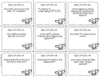 Diary of a Fly Reading Comprehension Scoot