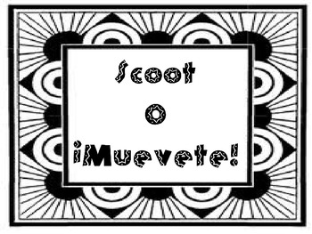 Scoot or Muevete Game - Blank