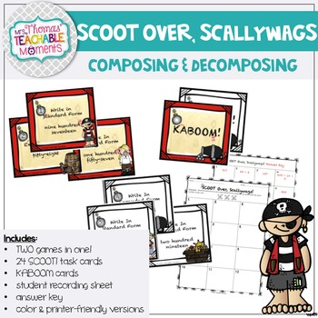 "Standard, Expanded and Word Form ""Scoot over, Scallywags!"""