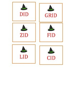 Scoot- word families im and id