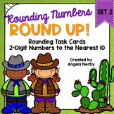 Task Cards: Rounding 2-Digit Numbers to the Nearest 10 {Set 2}