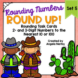 Task Cards: Rounding 2- and 3-Digit Numbers to the Nearest 10 and 100 {Set 5}