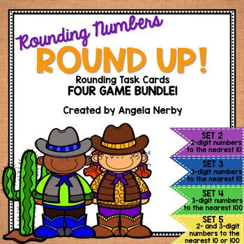 Task Cards: Rounding BUNDLE {4 Games!}