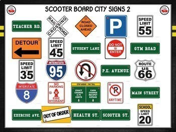 Scooter Board City- PE Activity Visuals and Detailed Plan