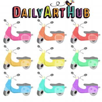 Scooter Clip Art - Great for Art Class Projects!