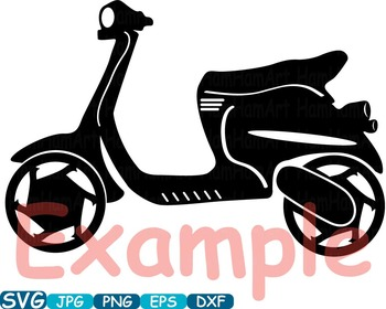 Scooters Silhouette clipart Motorbike Monogram Motorcycle Vintage t-shirt -304s