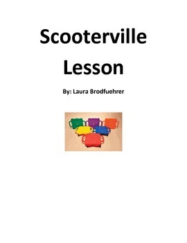 Scooterville: learn the rules of the road while riding on a scooter board!