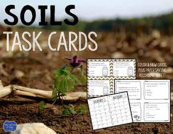 Soils Task Cards: Types and Layers of Soil activity