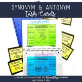 Scootin' Along with Synonyms and Antonyms {36 Synonym and Antonym Task Cards}