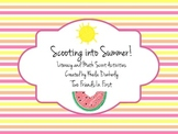 Scooting Into Summer - End of the Year Literacy and Math Scoot Activities