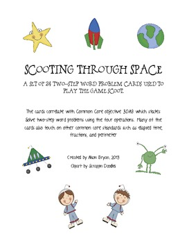 Scooting Through Space- Two Step Word Problems