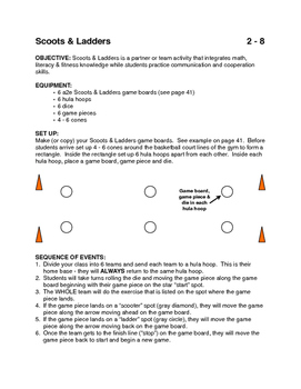 Scoots & Ladders Game for PE