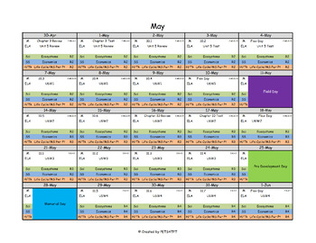 Scope and Sequence Calendar