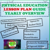 Physical Education Lesson Plan Guide Yearly Overview