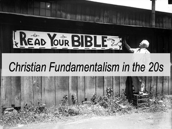 Scopes Monkey Trial and Christian Fundamentalism - lesson and activity