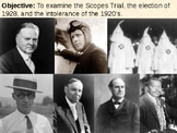 Scopes Trial / Ku Klux Klan / Marcus Garvey / Election of 1928 PPT