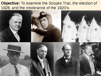 Scopes Trial / Ku Klux Klan / Marcus Garvey / Election of 1928 PPT