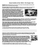 Scopes Trial/Chicago Race Riots of 1919: Common Core Text-