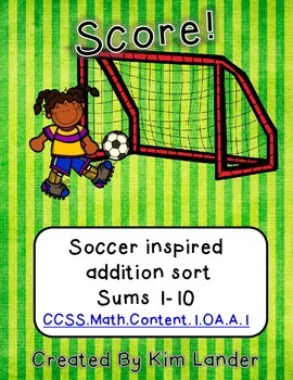 Soccer Inspired Math Centers CC Aligned