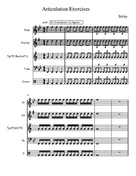 Score - Articulation Exercises for Band