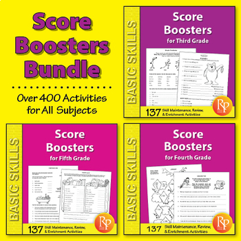 Score Boosters: Test Preparation for All Subjects {Bundle}
