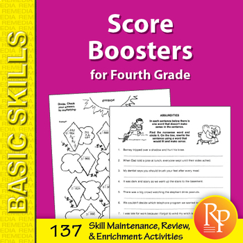 Score Boosters for Grade 4